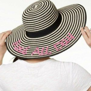 August Hats All Day Floppy Hat, Black, One Size
